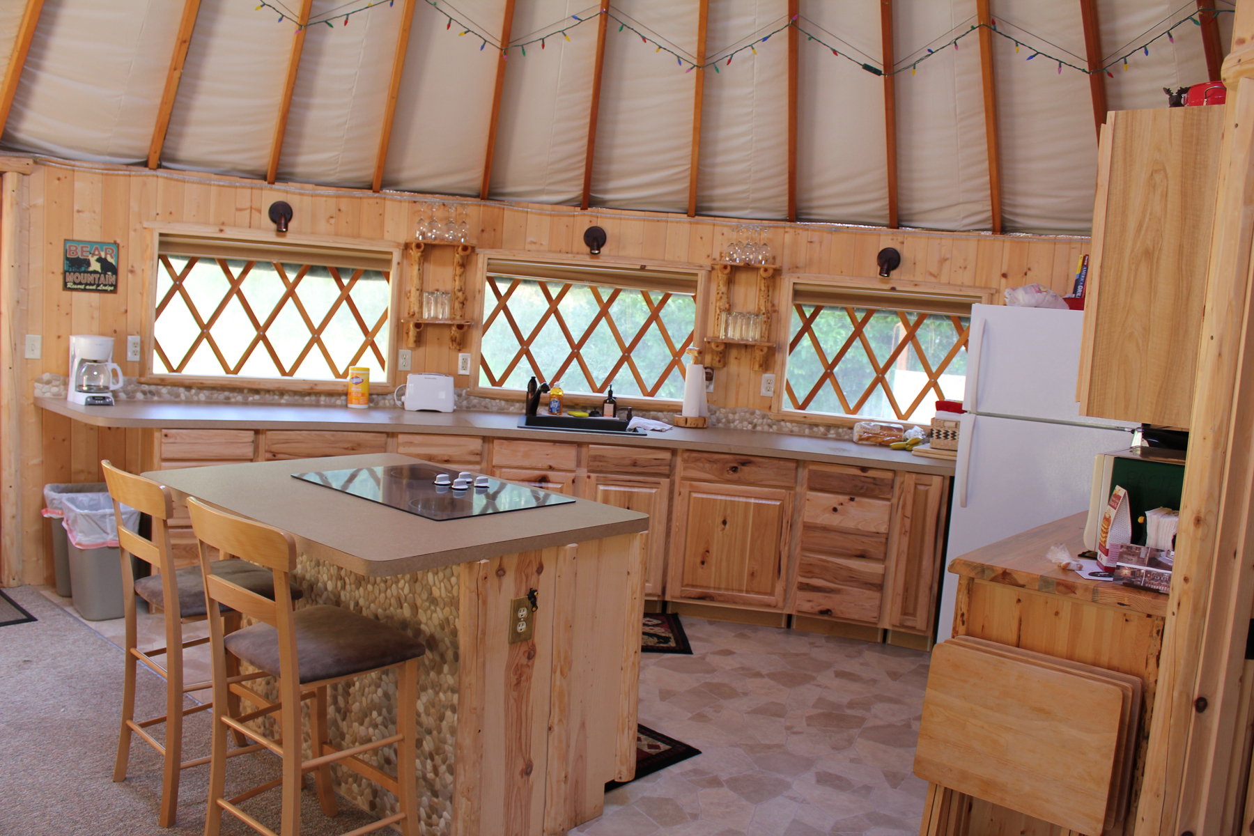 The yurt savvy entertaining for Kitchen and bathroom