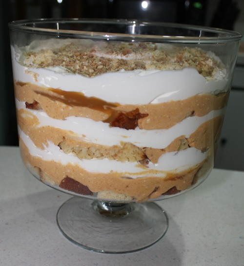 pumpkin trifle finished