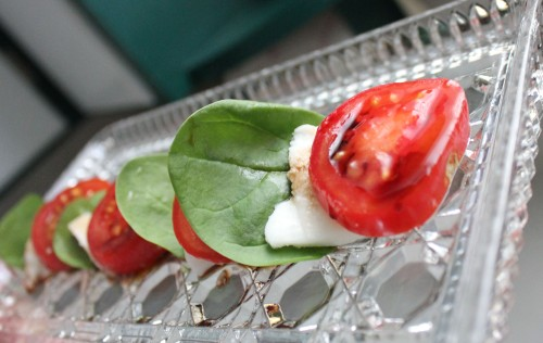 caprese plated