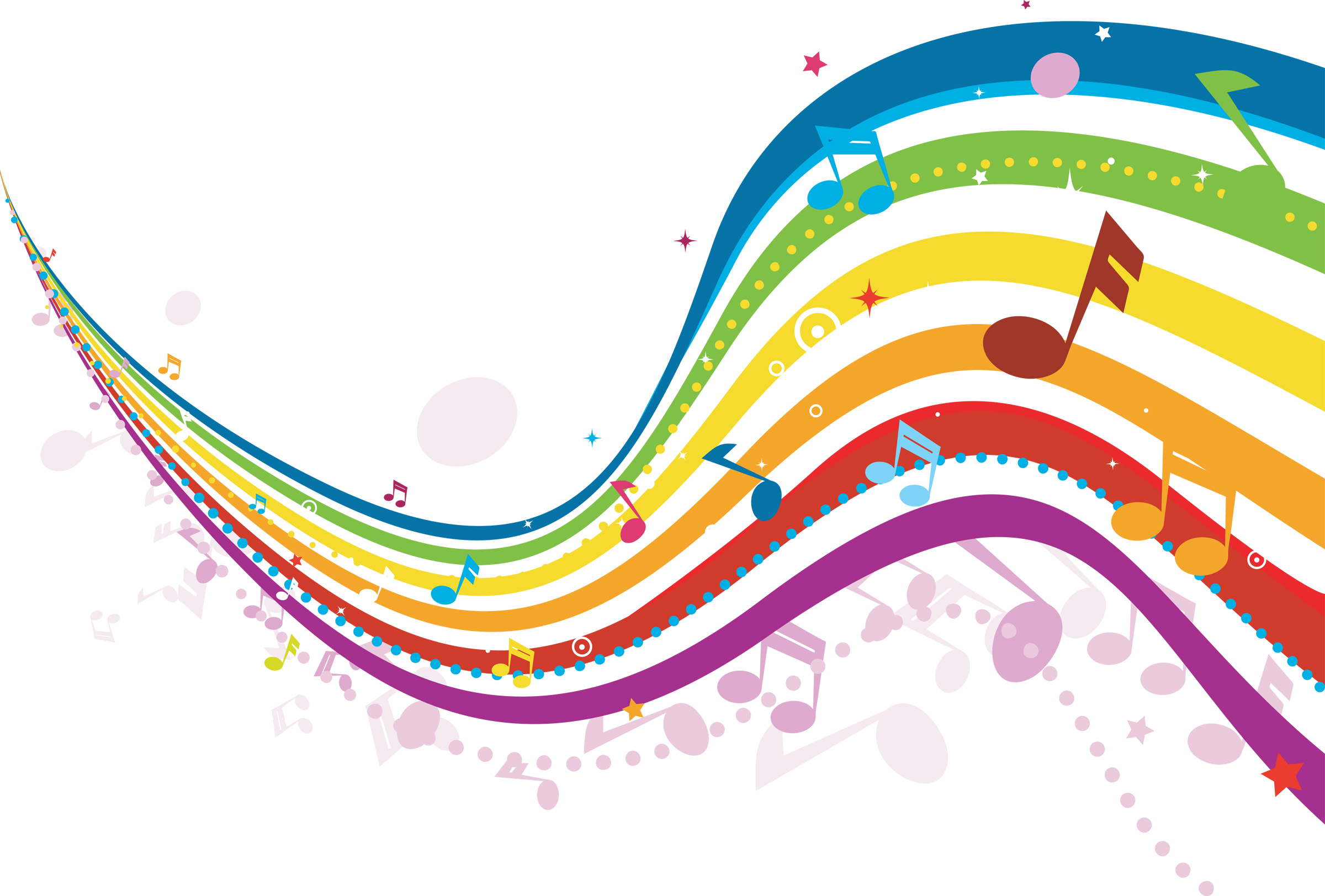 Rainbow Music Notes Background Hd Wallpaper Background Images: Savvy Entertaining