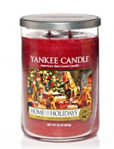 home for holidays candle