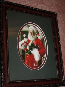 santa with roses