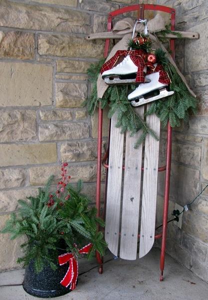sled and skates