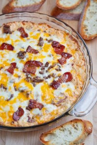 Yummy Bacon Double Cheeseburger Dip from Too Stinkin' Cute.