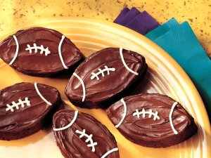 Football Brownies from Betty Crocker