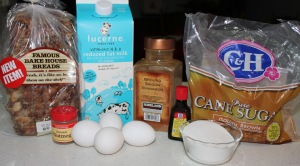 cinnamon bread pudding ingredients