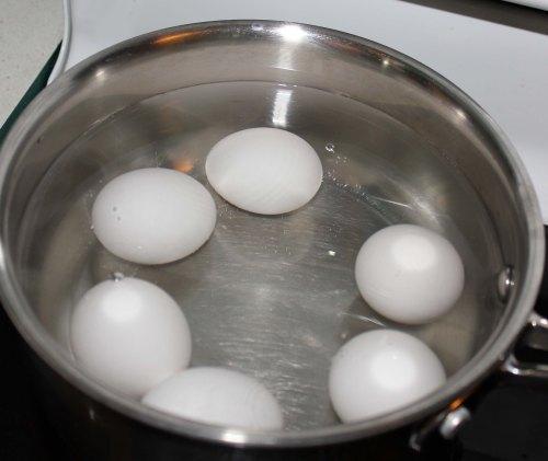Boil the eggs
