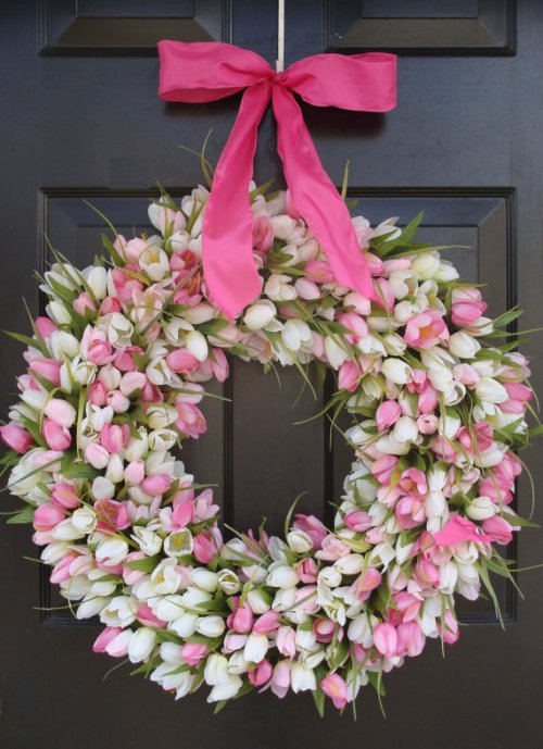 spring wreath etsy