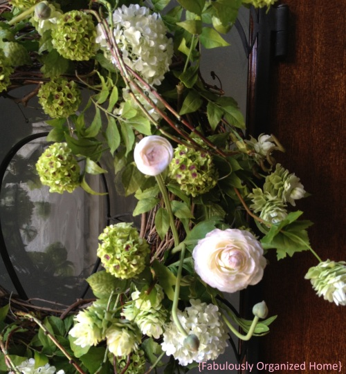 spring wreath greens
