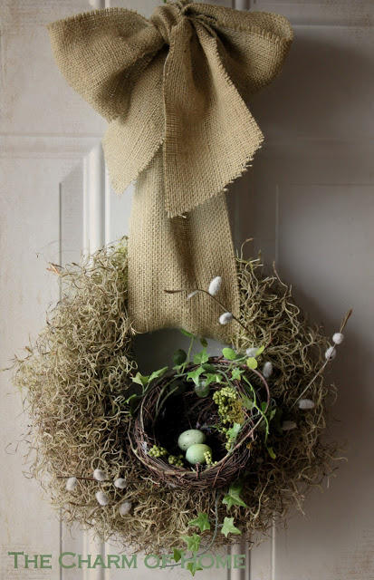 spring wreath nest