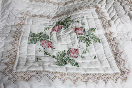 quilt roses grandma nell one block