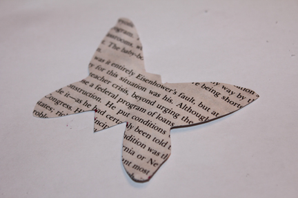 butterfly craft cut out