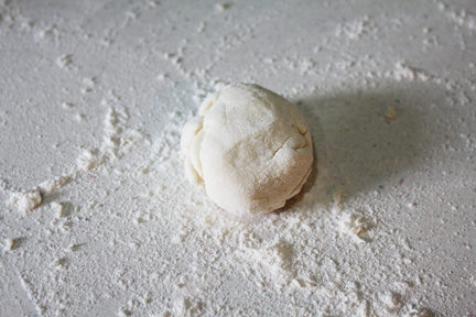 Lefse Dough - roll it thin, super thin, before cooking.