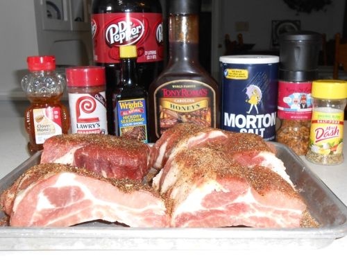 Ingredients for delicious ribs