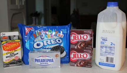 Ingredients ... and out of the 396 packages of Oreos at the store, of course I grab the one with birthday sprinkles in the filling!