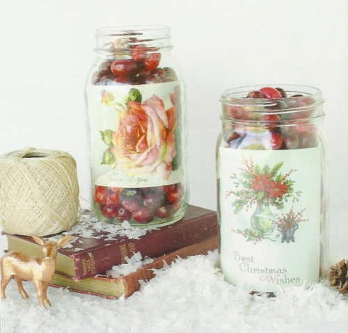 Mason Jar christmas cranberry