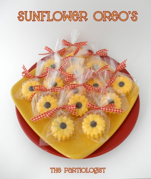 sunflower party oreos