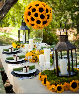 sunflower party table 1