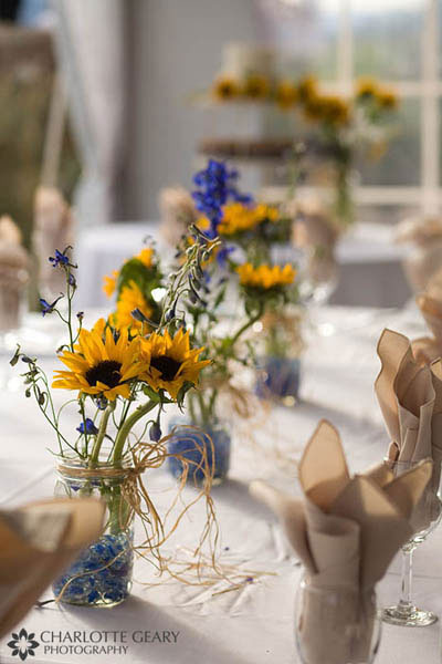 sunflower party table 2
