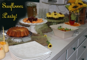 sunflower party theme 1