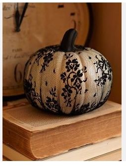 How much do I love a lace-covered white pumpkin? You don't even want to know!