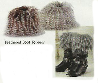 western fashion feather boot tops
