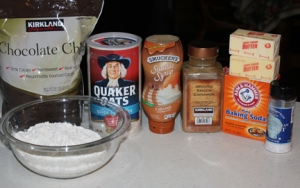 Ingredients for Oatmeal Carmelitas