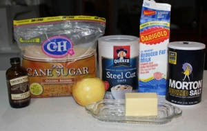 Basic ingredients - although you need to use steel cut oats.