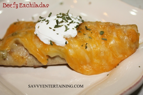 enchiladas plated