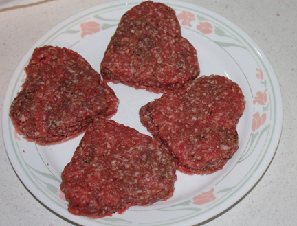 bread dough heart burgers ready to bbq
