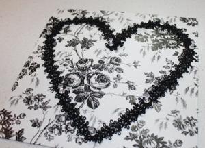 heart board glue trim