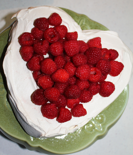 Top with whipped cream and berries (or cherries) for a beautiful dessert your sweetheart will love.
