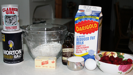 Ingredients for Raspberry Muffins