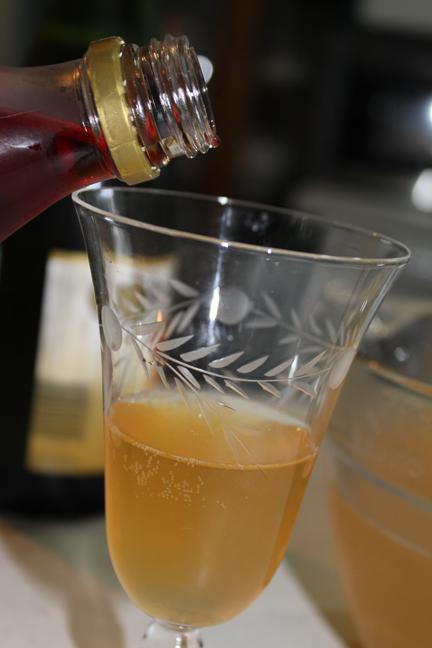 Finish it off with a hit of grenadine syrup. It looks like a bubbly party in a glass!