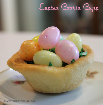 Then topped with jelly beans. This would be fun to mark each place setting or as a little take-away treat if you are the host for Easter dinner.