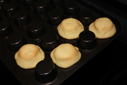 You can also make mini cookie cups. Just form them on the back of a mini cupcake or muffin tin.