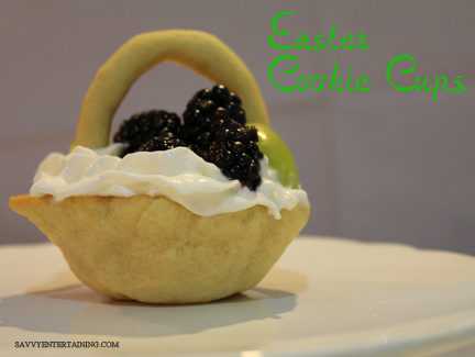Easter Cookie cups plated
