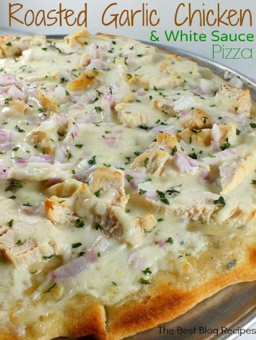 pizza chicken garlic