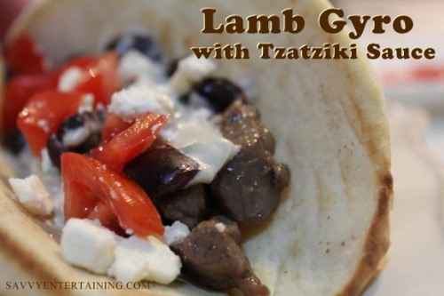Lamb Gyro plated
