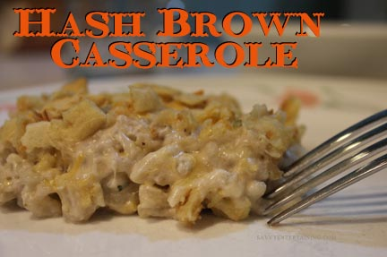 Hash Brown Casserole Plated