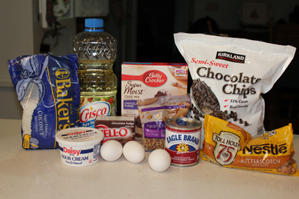 7-layer cake ingredients