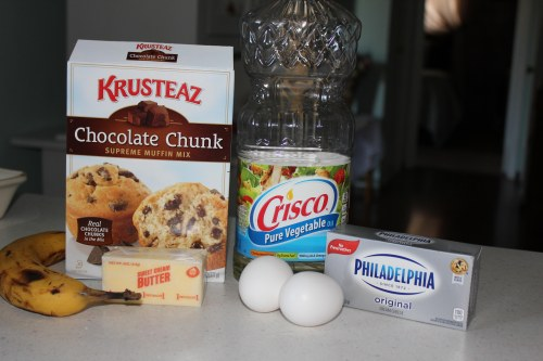banana choc cake bars ingredients