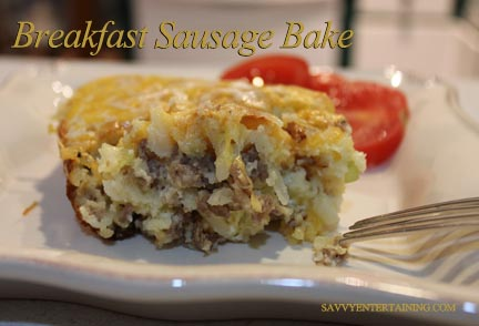 Breakfast Sausage Bake plated