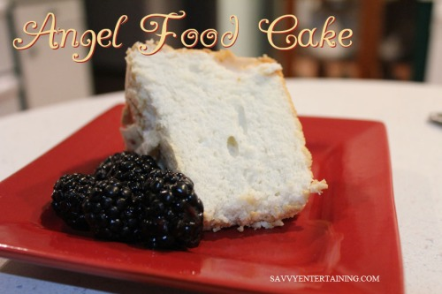 Angel Food Cake plated